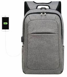 68afde9b58 kopack Slim Business Laptop Backpack USB Anti Thief Tear Water Resistant  Travel Computer