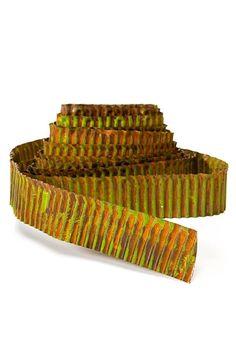 corrugated metal, rustic green