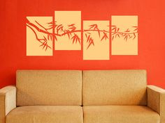 Bamboo Branch  4 Panel Wall Decal by WallJems on Etsy, $22.00
