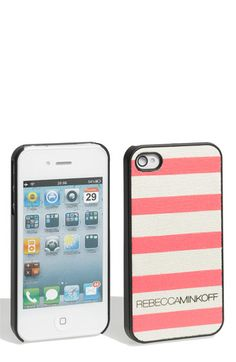 Rebecca Minkoff - iPhone 4 Stripes Case - want this but with black stripes!