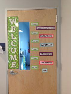Math classroom door!