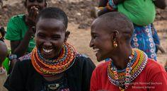 Friendly chatter, Olturot, Marsabit, Northern Kenya.