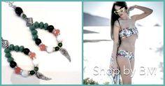 Boucles en perles style indien par SHOPbyBM sur Etsy