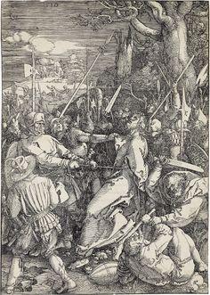 ALBRECHT DÜRER  The Kiss of Judas.   Woodcut, 1510