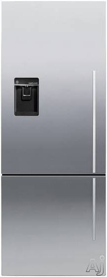 Fisher U0026 Paykel RF135BDUX4 13.5 Cu. Ft. Counter Depth Bottom Freezer  Refrigerator