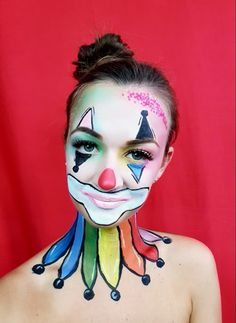 Halloween makeup ideas  For full tutorial and more makeup ideas visit our channel: https://www.youtube.com/watch?v=x9wAjuHBKIw #halloween #makeup #halloweenmakeup #tutorial #youtube #diynikolalexandra #clown
