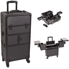 31 Inch Black Dot Pattern Interchangeable Series Cosmetic Train Case Beauty…