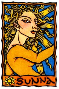 Sól, Bright Sun-goddess of Norse Mythology, from the World Goddess Oracle by Thalia Took. Norse Goddess, Goddess Art, Moon Goddess, Norse Mythology, Wicca, Magick, Asatru, Gods And Goddesses, Archetypes