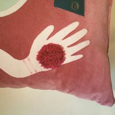 Close up details of the Fortune Teller Cushion