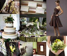 chocolate, crean, and sage weddings | Chocolate Brown and Sage Green Wedding