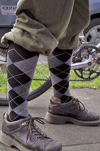 Argyle Compression Knee Highs $25 from Sockdreams