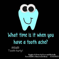 -Tonight's Joke for Tomorrow's Students!⠀ What time is it when you have a tooth… Tonight's Joke for Tomorrow's Students!⠀ What time is it when you have a tooth ache?⠀ Clip art from check her out, you will ❤️ her! Lame Jokes, Work Jokes, Puns Jokes, Jokes And Riddles, Funny Jokes For Kids, Funny Puns, Kid Jokes, Toddler Jokes, Hilarious Jokes