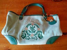 Large Teal Juicy Velour Purse #JuicyCouture #Satchel