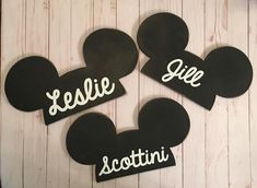 Plain Black Mickey Ears Wooden Mickey Ears Personalized Mickey Ears Disney Mickey Ears Disney Home Decoration Wooden Mickey Mouse Heads Mickey Mouse Room, Mickey Mouse Classroom, Mickey Mouse Crafts, Disney Mickey Ears, Disney Crafts, Diy Disney Gifts, Mickey Mouse Bathroom, Mickey Craft, Mickey Mouse Kitchen