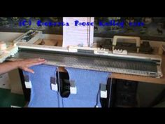 In the Ditch Buttonholes for Machine Knitters - YouTube