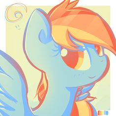 Color Palette Challenge: Rainbow Dash by Ranoutofideas.deviantart.com on @DeviantArt