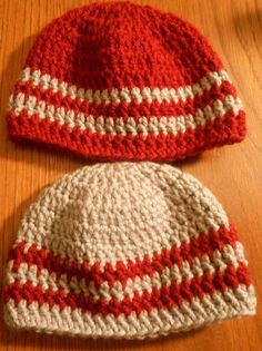Newborn Twin Boy Crocheted Hats Red and Grey by MyWindowSIL, $14.00. This but grey with white stripe @Betsy Buttram Schulin-Barfield