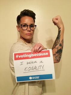 @Ashlyn_Harris: Partnering w/ @USATODAY & #VotingBecause we all have an equal say on who should be POTUS. Why are you voting: votingbecause.com