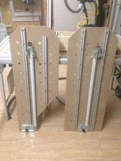 Prolongaciones de mesa festool reforzadas por bajo con perfileria de aluminio