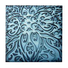 Arts & Crafts Decorative Tile in Blue | Zazzle.com Decorative Tile, William Morris, Tile Art, Diy Face Mask, Dog Design, Party Hats, Animal Print Rug, Arts And Crafts, Kids Shop