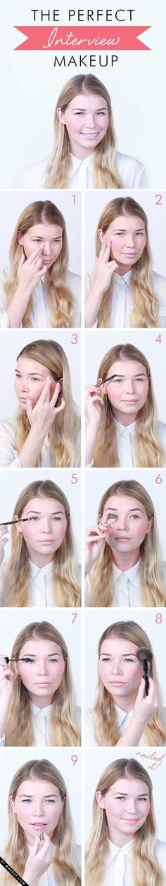 Perfect Interview Makeup- Georgetown Law Office of Career Services Beauty Secrets, Diy Beauty, Beauty Makeup, Beauty Hacks, Fashion Beauty, Hair Makeup, Beauty Tips, Job Interview Makeup, Look 2015