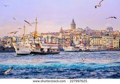 Golden Horn, Istanbul, Turkey - stock photo