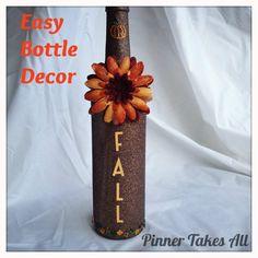 DIY Fall bottle decor