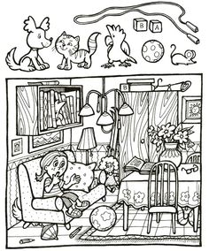 najdi na obrázku Preschool Worksheets, Kindergarten Activities, Preschool Activities, Hidden Picture Puzzles, Hidden Pictures, Hidden Objects, Teaching English, German Language Learning, Teaching French