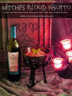 Bobbi's Kozy Kitchen: Witches Blood (Red Wine) Risotto @GalloFamily #SundaySupper #Halloween
