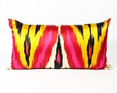Vintage silk Ikat pillow.  Gorgeous.  Material Recovery on Etsy.