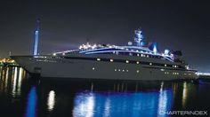 Night shot - RM ELEGANT Charter Yacht