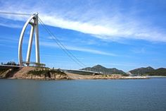 Landscape of Moonyeo Bridge in Gunsan, South Korea