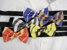 Wizarding School Bow Ties by PixieBluebellDesigns on Etsy