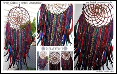 STORM Fantasy Dream Catcher- Art wall hanging- Storm Energy /Blackout /Full Moon-Home Decor- Dream protection-