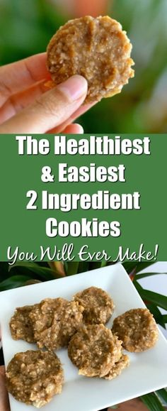 If you like coconut and bananas, then these are The Healthiest And Easiest 2 Ingredient Cookies You Will Ever Make. A super easy to make recipe that is gluten free, dairy free, and contains no refined sugars! #nosugar #banana #coconut #glutenfree #dairyfr