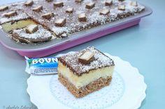 bounty blechkuchen, bounty kuchen, bounty torte, bounty rezept, selber machen, bounty, blechkuchen rezept, kuchen backen, kokos kuchen, kokos blechkuchen