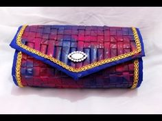 How to make clutch from old recycled newspaper at home I Women's handbag...