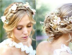 7 Glamorous Hairstyles for Bridesmaids 2013 braided headband hairstyle for wedding with wavy hair extension