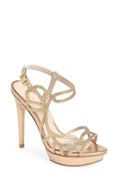 Pelle Moda 'Fey' Metallic Platform Sandal (Women) | Nordstrom