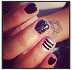 digging the stripes and glitter thing..
