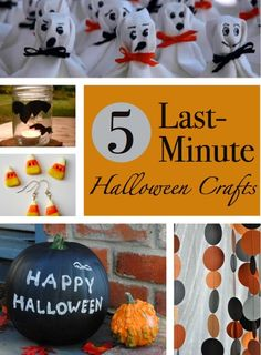 Last-Minute Halloween Crafts || CraftFoxes
