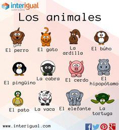 Los animales en español/ The animals in spanish