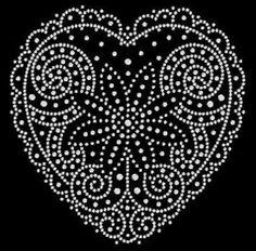 hart Dot Art Painting, Mandala Painting, Stone Painting, Painting Templates, Painting Patterns, Mandala Dots, Mandala Pattern, River Rock Crafts, Candlewicking Patterns