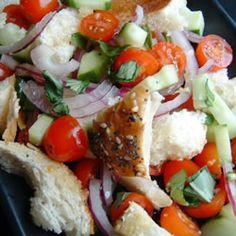 Mid-Summer Italian Bread Salad Allrecipes.com