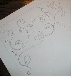 scrolling swirly vine motif