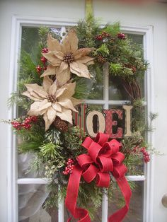 Hey, I found this really awesome Etsy listing at https://www.etsy.com/listing/203439539/christmas-door-wreath-with-burlap