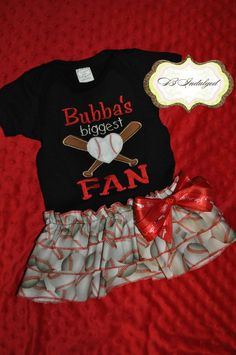MIGHT be the CUTEST thing i've seen in my life!! Bubba's Biggest Baseball Fan by BIndulgedBoutique on Etsy, $45.00