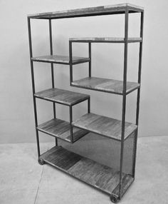 Furniture Ideas combine metal and wood Iron Furniture, Steel Furniture, Industrial Furniture, Custom Furniture, Home Furniture, Furniture Design, Muebles Living, Into The Woods, Welding Projects