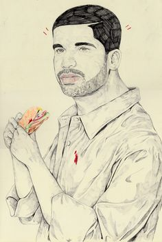 withapencilinhand:  Drake with Burger