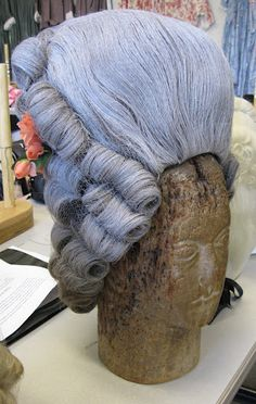 18th Century style Wig on block as used in Cosi Fan Tutte (not Opera North Photo)